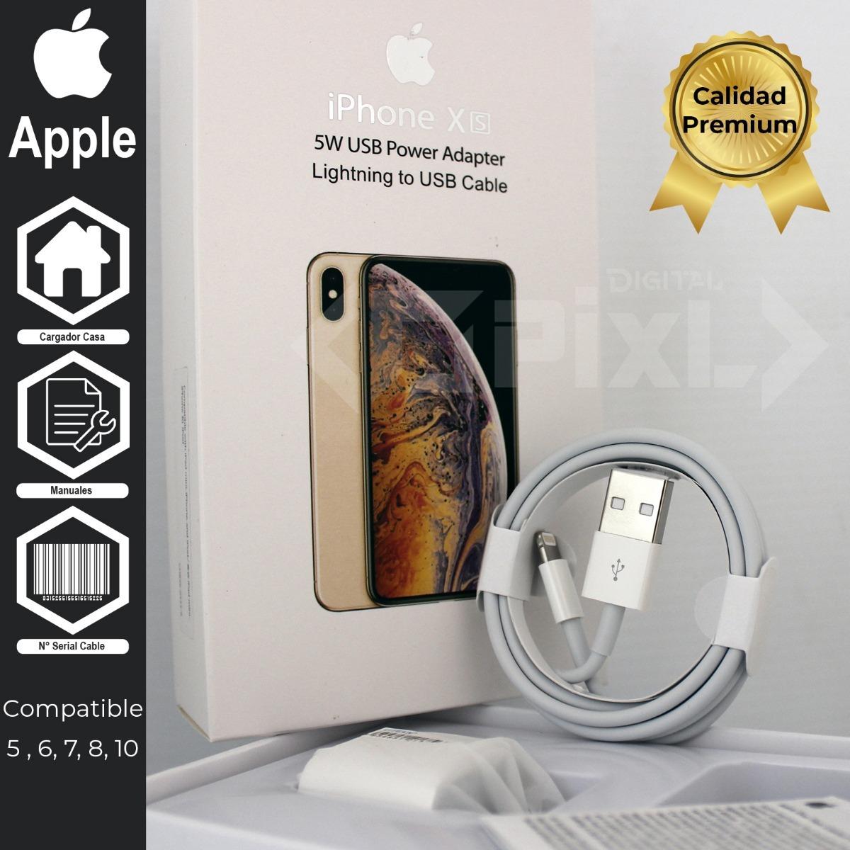 a4e8f30de33 Cargador Apple Original Lightning iPhone 5 6 7 8 10 - $ 388.00 en ...