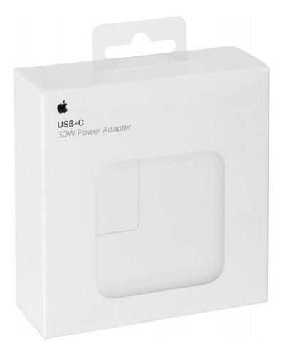 cargador apple usb type c 30w con pd iphone ipad. power adapter - fast charging