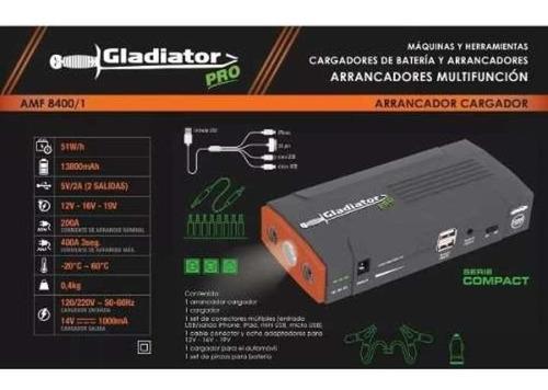 cargador arrancador gladiator auto moto portatil bank power