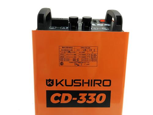 cargador arrancador kushiro 300 amp 12v/24v
