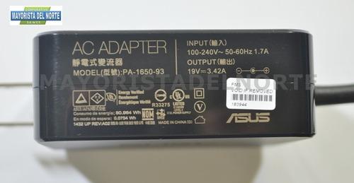 cargador asus 19v 3.42a adp-65aw pa-1650-93 5.5 x 2.5mm orig