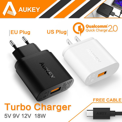 cargador aukey de pared