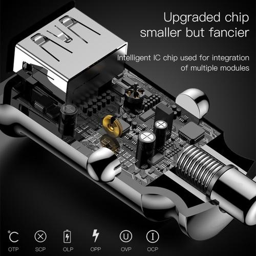 cargador auto ultra rapido baseus quick charge 3.1 qualcomm