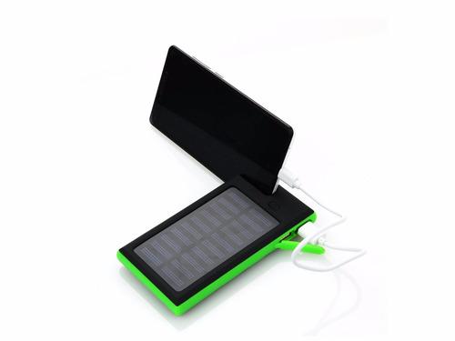 cargador auxi solar batería externa 12000mah banco poder usb