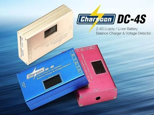 cargador balanceador lipo charsoon dc-4s bateria 2-4 celdas