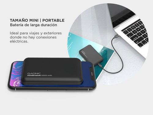 cargador base 10000mah portátil power bank carga plus rapido