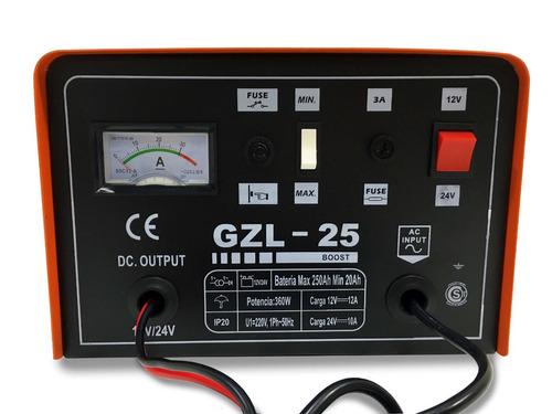 cargador bateria auto stop kushiro 25 amp 12v/24v zona norte