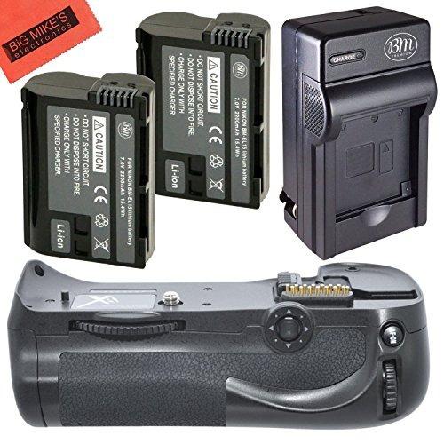 cargador + batería big mike's nikon d800, d810 remplaza en-