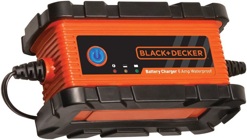 cargador bateria carro moto 12v 6a black and decker gel ups