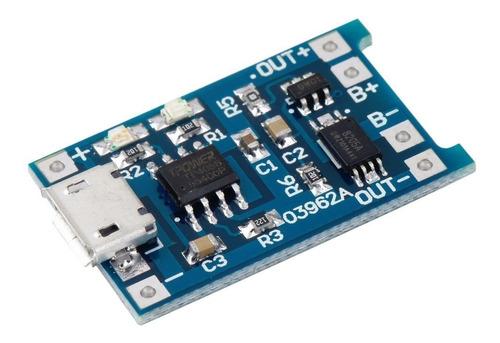 cargador bateria de litio 5v 1a micro usb 18650 x 02und