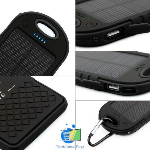 cargador bateria externa power bank 16000 mah panel solar