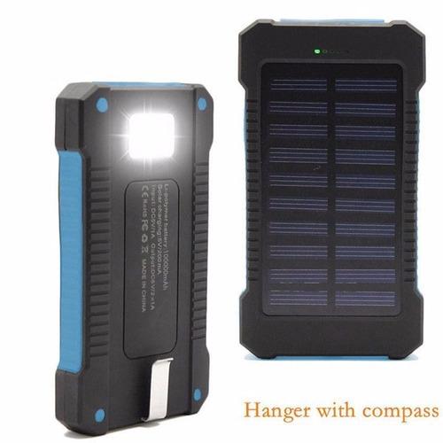 cargador bateria externa power bank 30.000 mah panel solar.