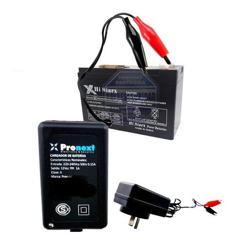cargador batería inteligente flote + batería 12v 7 a oferta