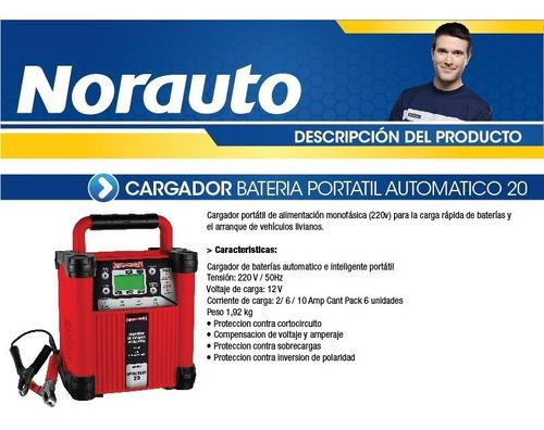 cargador bateria portatil automatico 20 sincro