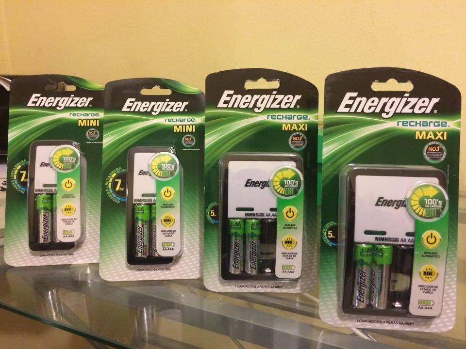 Cargador y baterias recargables energizer aa y aaa 2 pilas - Cargador pilas recargables ...