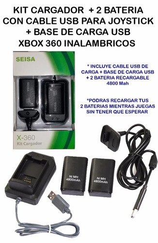 cargador baterias xbox