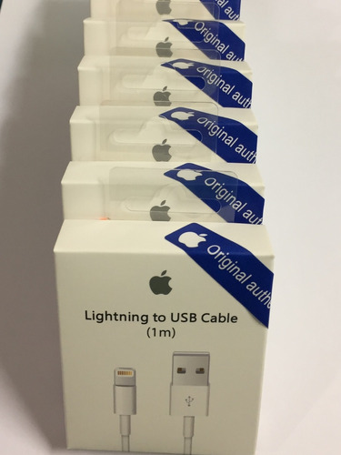 cargador + cable d datos usb iphone 5 5s 6 6s 7 8 plus x 1m