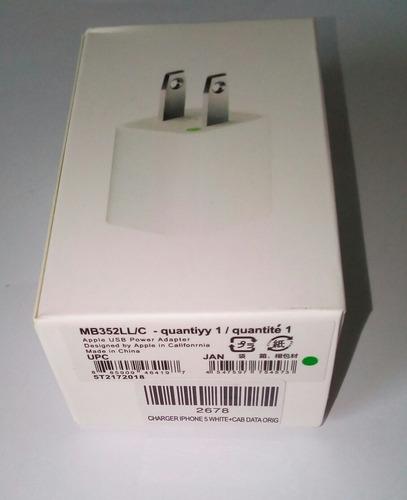 cargador + cable iphone 5, 6, 7 original nuevo