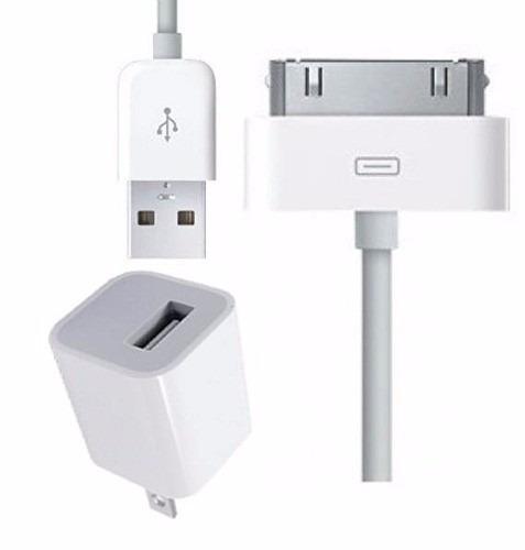 cargador + cable oem iphone 4 4s ipad 1 2 3 4 ipod