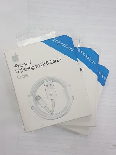 cargador + cable original apple iphone 5, 5s, 5c, 6, 6+,6s 7