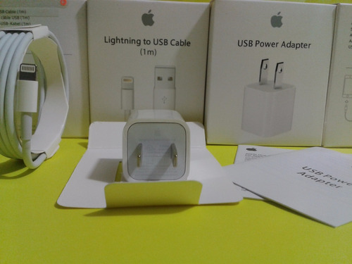 cargador + cable original apple iphone 7 6 5