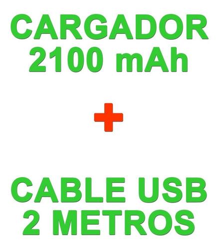 cargador + cable usb 2 metros sony xperia l1 xa1 xa2 x xz1