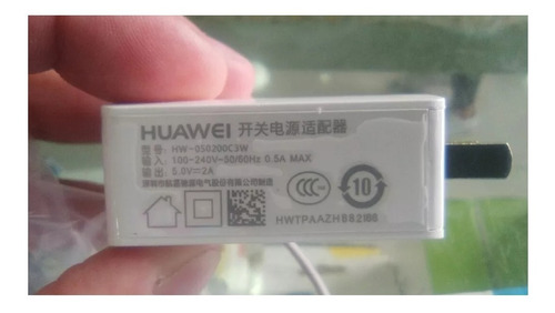 cargador + cable usb data huawei y5 2018 honor 7s 2.0a