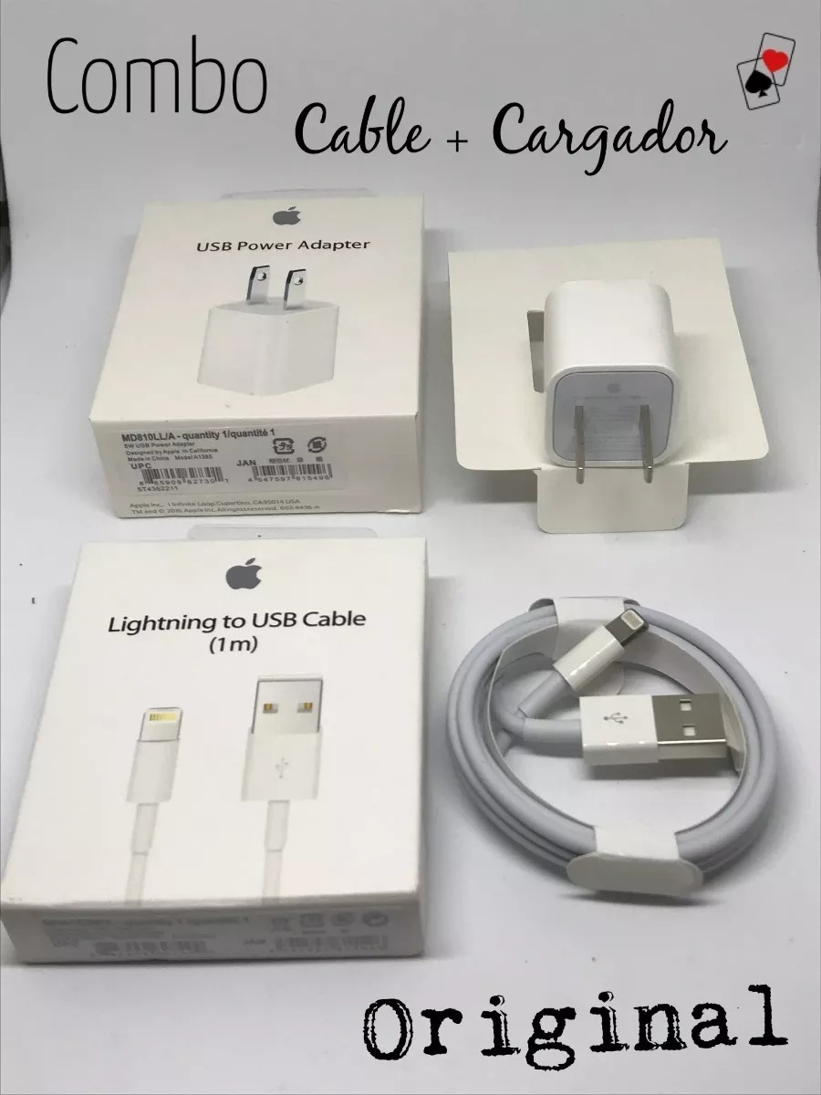 e0cfcac7b8d cargador + cable usb lightning original iphone 5 6 7 8 x xs. Cargando zoom.