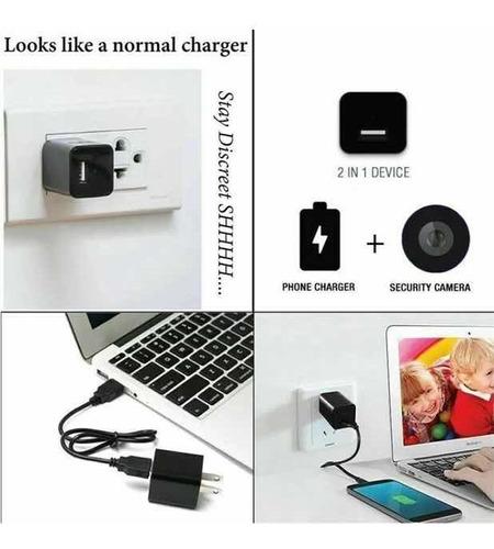 cargador cámara espía hd 1080p adaptador usb