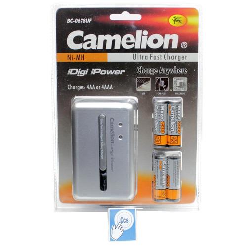 cargador camelion pilas batería 4 doble aa  4 tri aaa rapido