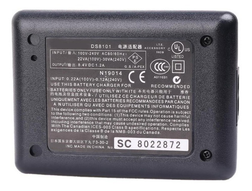 cargador canon eos bp-511a 10d 20d 30d 40d 50d d60 d30