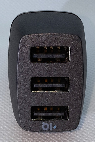 cargador carro anker 36w 03 puertos 2.4amp original