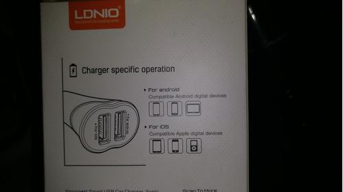 cargador carro dual iphone y android
