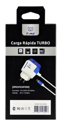 cargador celular ditron carga rapida 2.1a +2 usb y v8 inova