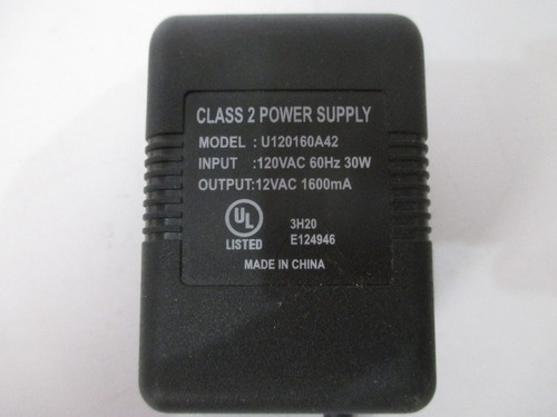 cargador class 2 power supply model: u120160a42