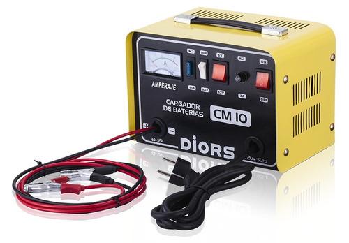 cargador cm 10 5amp/h 6v y 12v 100w portatil diors herracor