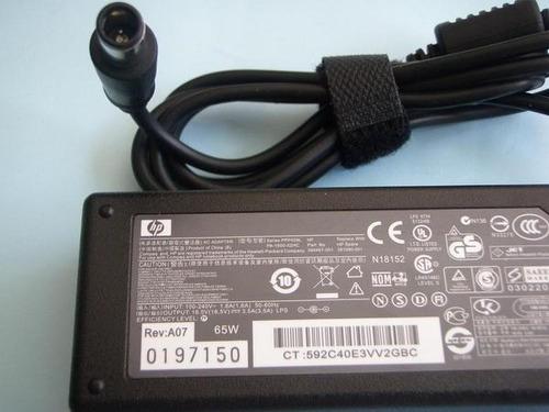 cargador compaq hp dv3, dv4, dv5,dv6, dv7 punta aguja