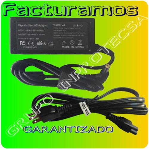 cargador compatible acer aspire 4310 4320 4810 19v 4.32a mmu