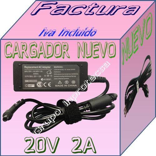 cargador compatible con laptop lenovo ideapad s205 20v 2a