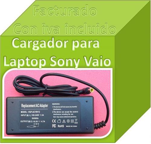 cargador compatible con sony vaio vgn cs170f 19.5v 4.7a fn4