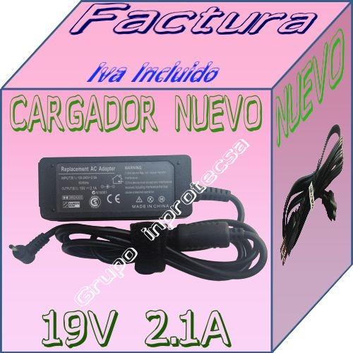 cargador compatible laptop asus eee pc 1005ha 19v 2.1a dmm