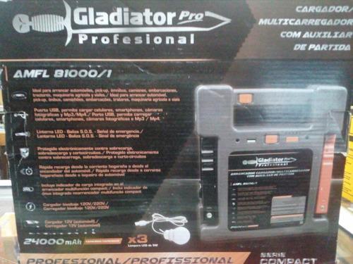 cargador  con auxiliar de partida m. gladiator