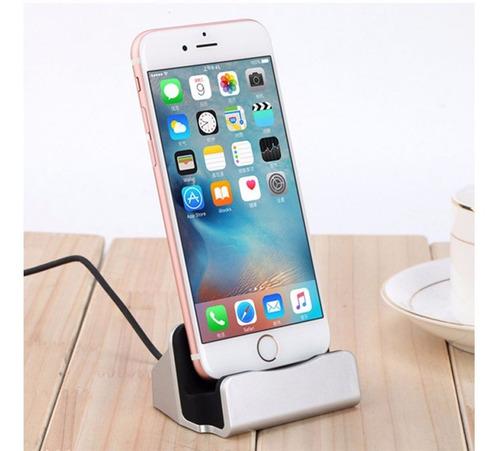 cargador con soporte holder celular iphone