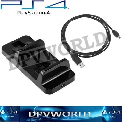 cargador control ps4 dual shock play satation 4 doble