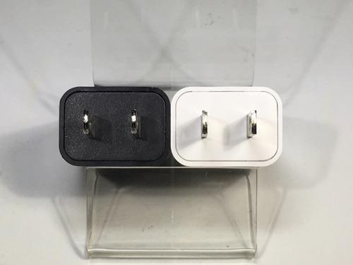 cargador cubo 1hora usb 5w 1a blanco y negro mayoreo y pzas