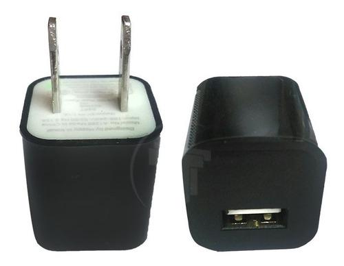cargador cubo taco de pared usb para telefonos 1.1a negro