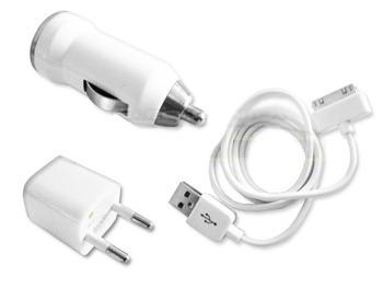 cargador de auto 12v pared 220v cable usb iphone 3g 4g 4s