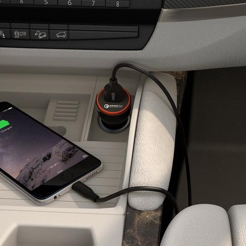 cargador de auto - anker powerdrive+ 1 - 24w - qc 3.0
