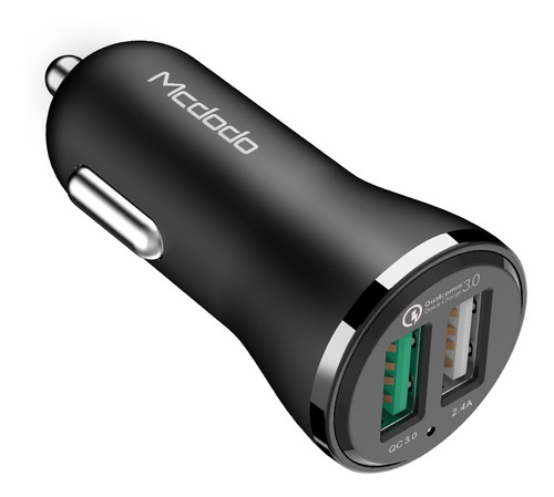 cargador de auto super rápido de 30w  dual usb qc 3.0. fast charging, mcdodo original. qualcomm