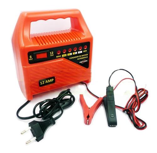 cargador de bateria 12 amp dezzer universal 12-6 volt
